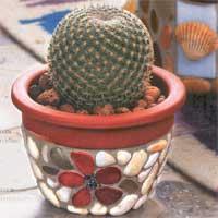 Декор цветочного горшка своими руками