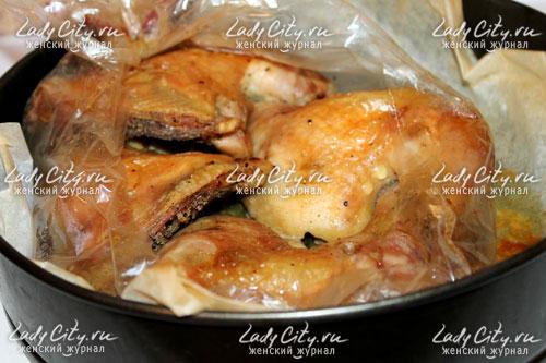 Фото рецепт окорочка рукаве духовке